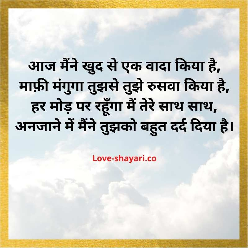 sorry shayari for wife