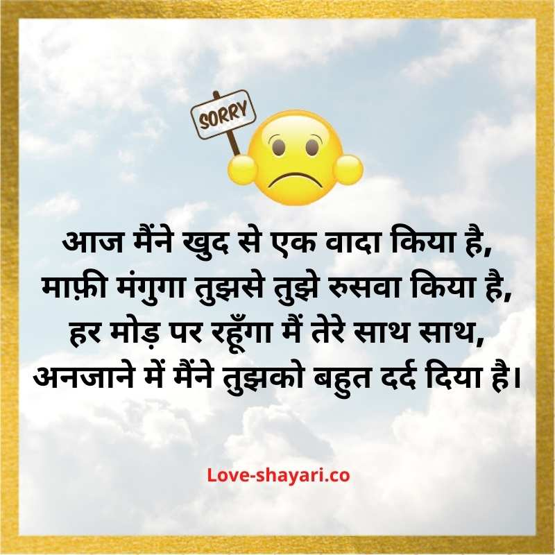 sorry shayari for friend